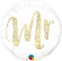 "Mr Glitter Gold Foil Balloon (18"") 1pc"